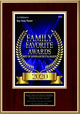 Voted Gold for Nanny Services in Bay Area Parent's Best of the Bay